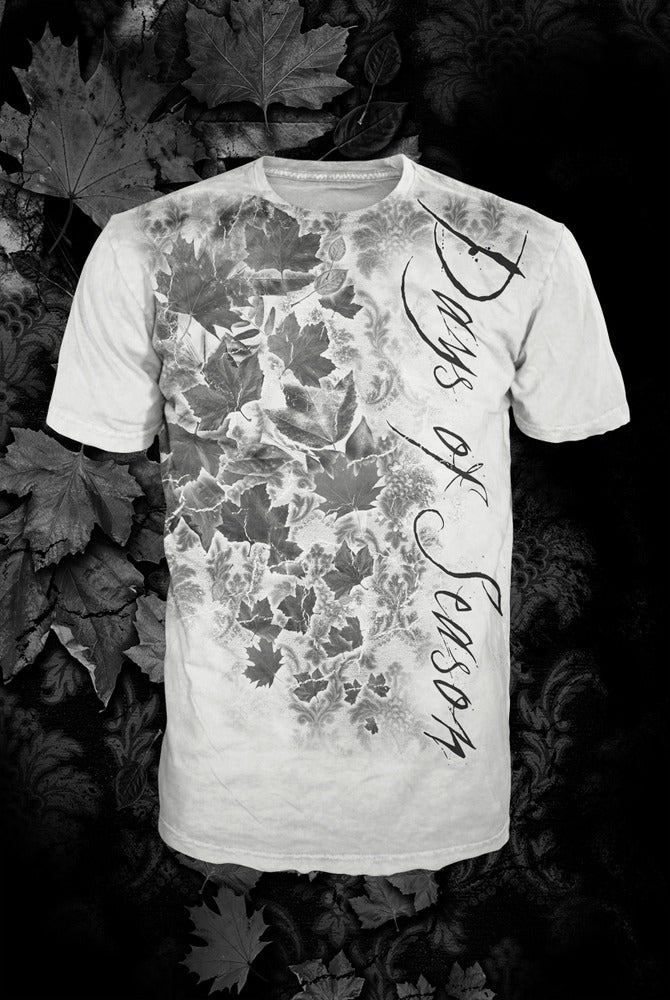 Image of Leaves Black T-shirt