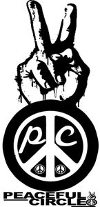 "Image of PEACEFUL CIRCLE MEN'S ""PLEDGE 4 PEACE"" TEE"