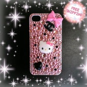 Image of Pink with black polka dots, hello kitty and chanel inspired iphone 4/ 4s case