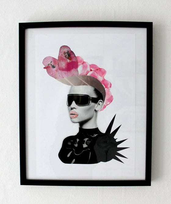 Image of Headpiece collage print
