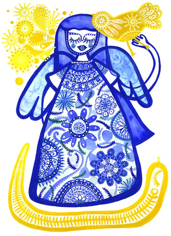 Image of Blue Girl Print