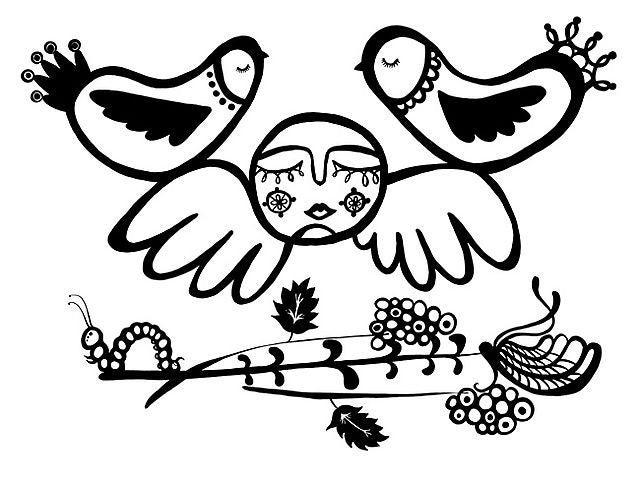 Image of Half Angel Half Bird Print