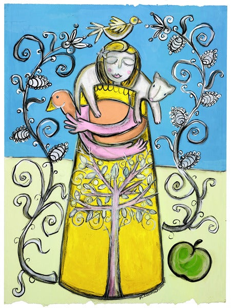 Image of Yellow Girl Print