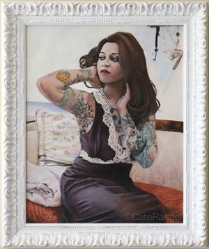 Image of Chantal in Vintage Pucci Framed Original Painting