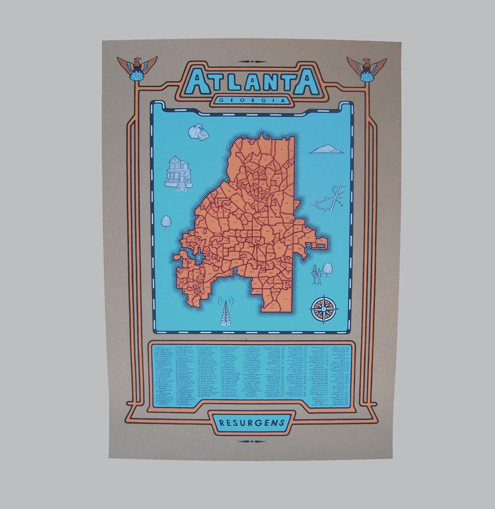 Image of atlanta map - b/o