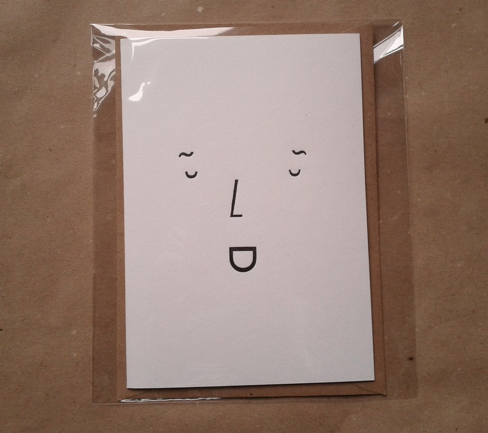 Image of A7 Greetings Card - Type Face