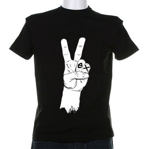 Image of Black T-Shirt Hand Print
