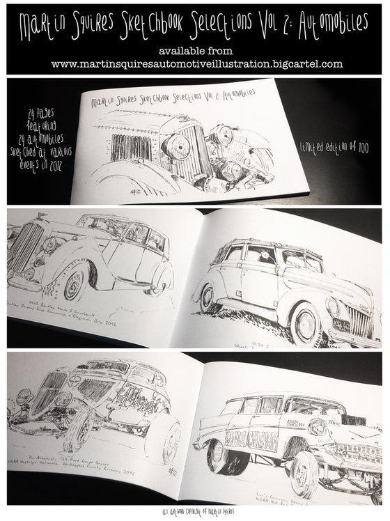 Image of Sketchbook Selections Vol 2: Automobiles