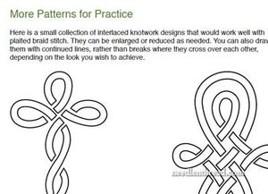 Image of Plaited Braid Stitch Printable