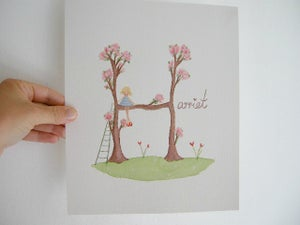 Image of Girl's Blossom Name Painting