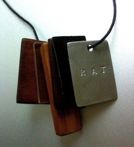 Image of Personalized recycled timber necklaces