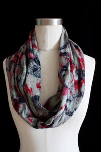 "Image of Circular Scarf, Sage ""Magmatic Earthquake"" Pattern"