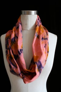 "Image of Circular Scarf, Coral ""Magmatic Earthquake"" Pattern"
