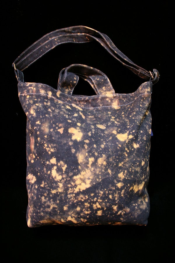 """Image of Tote Bag, Black """"The Universe is Expanding"""" Pattern"""