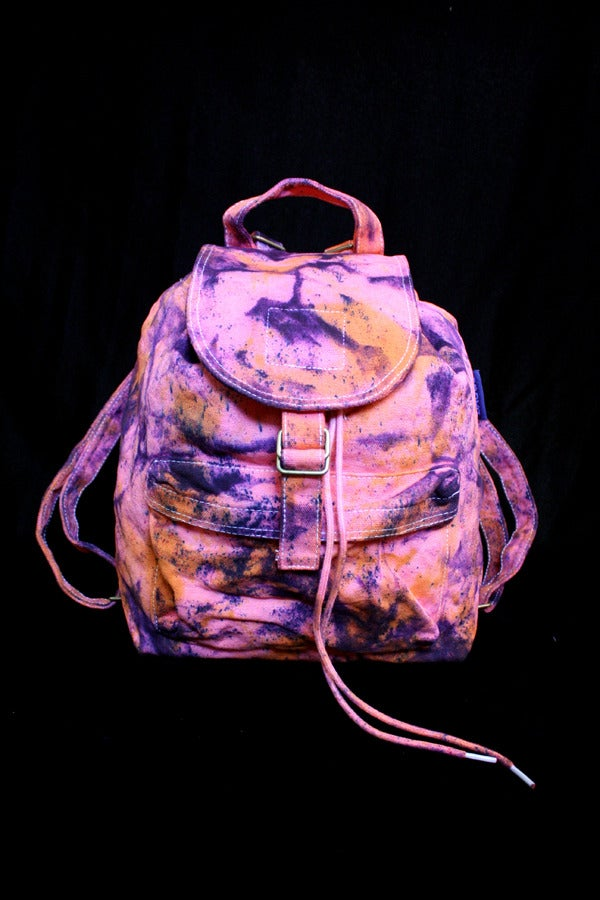 """Image of Backpack, Coral """"Magmatic Earthquake"""" Pattern"""