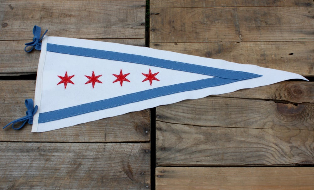 Image of Chicago City Flag Pennant