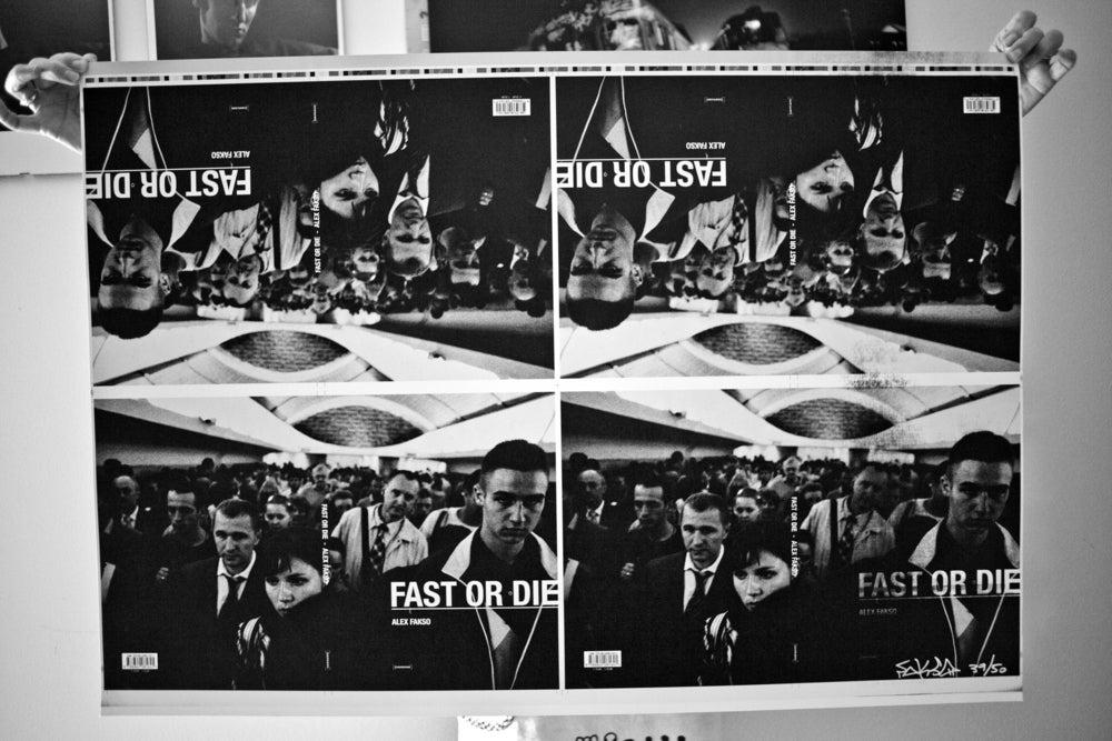 Image of Fast Or Die poster printing proof.