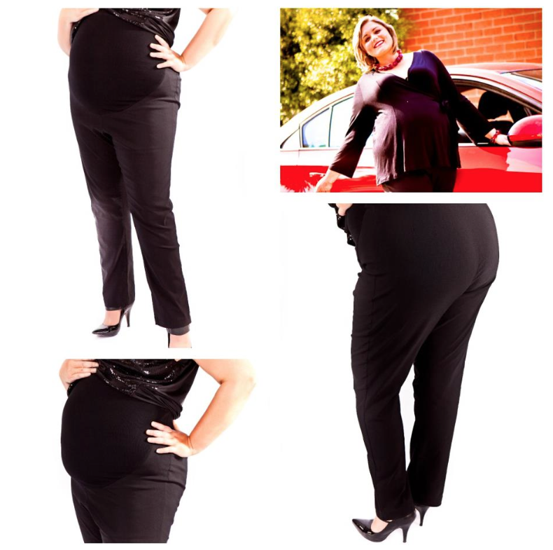 Image of Plus maternity classic bengaline stretch pants