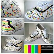 Image of Custom White Shoes