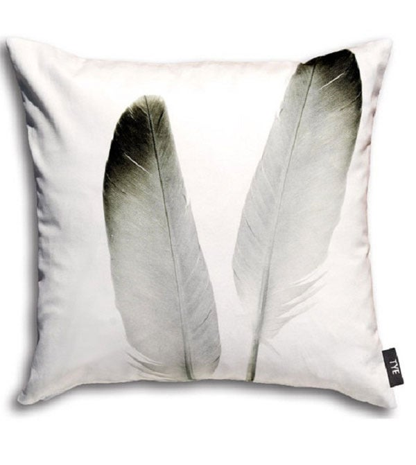 "Image of Swedish Pillow Cover - ""Feathers"" (cotton)"
