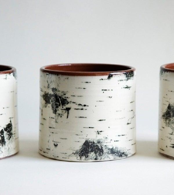 Image of Swedish Birch Motif Pottery