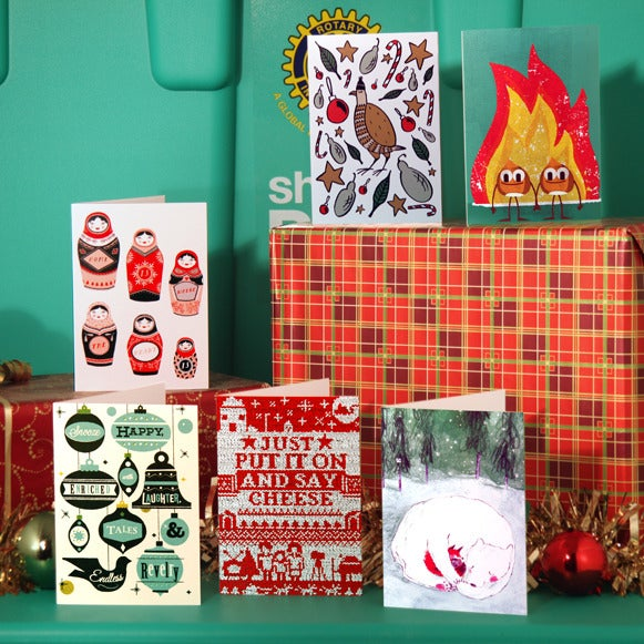 Image of SALE! Christmas cards 'Stranger Collective - 6 design pack'