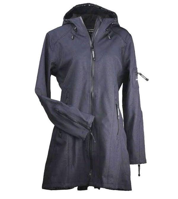 Image of Ilse Jacobsen 3/4 Length Raincoat - Indigo