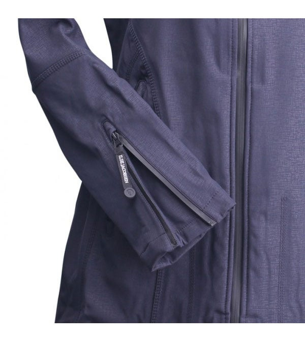 Image of Ilse Jacobsen 3/4 Length Raincoat - Indigo