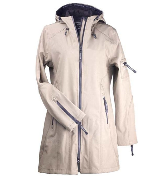 Image of Ilse Jacobsen 3/4 Length Raincoat - Sesame