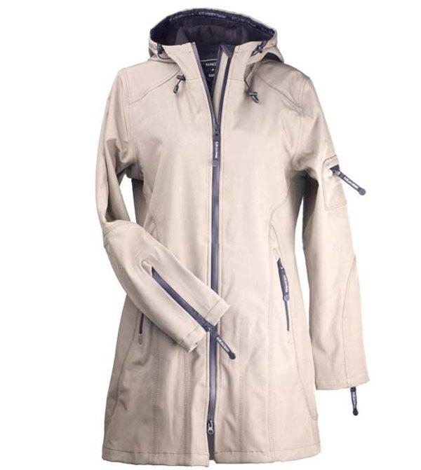 Image of Ilse Jacobsen 3/4 Length Raincoat - Sesame