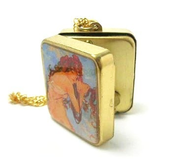 Image of Mucha Miniature Music Box Locket