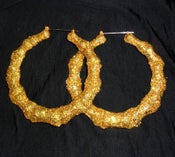 Image of Bamboo Hoops Sparkle Gold