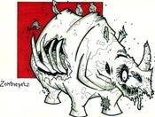 Image of Zombie Rhino Print