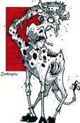 Image of Zombie Giraffe Print