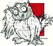 Image of Zombie Owl Print