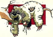 Image of Zombie Sloth Print