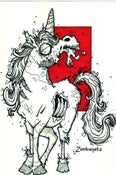Image of Zombie Unicorn Print