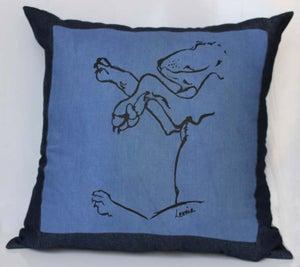 Image of sleeping puppy cushion