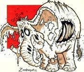 Image of Zombie Elephant Print