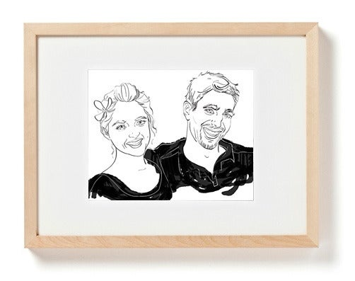 Image of Custom Portrait of Two
