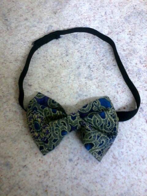 Image of Vekras Green/Blue Unisex Bow-tie