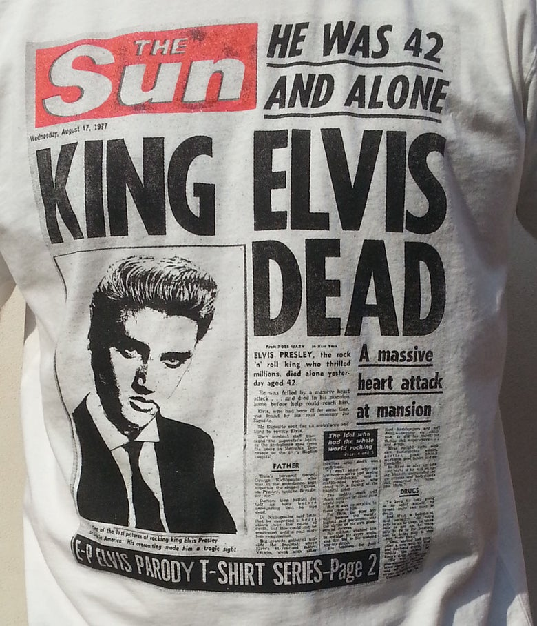 "Image of ""King Elvis Dead 1977"""