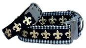 Image of Fleur de Lis Dog Collar on UncommonPaws.com