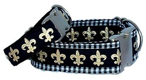 Image of Fleur de Lis Dog Collar in the category  on Uncommon Paws.