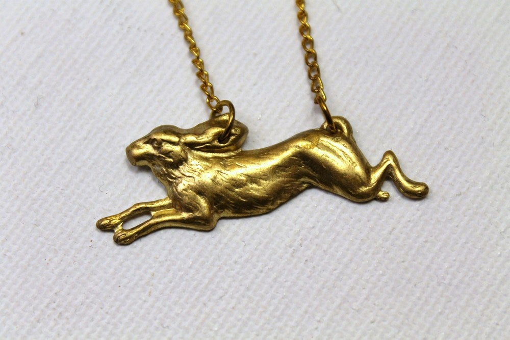 Image of Running Rabbit Necklace (ORIGINALLY $24)