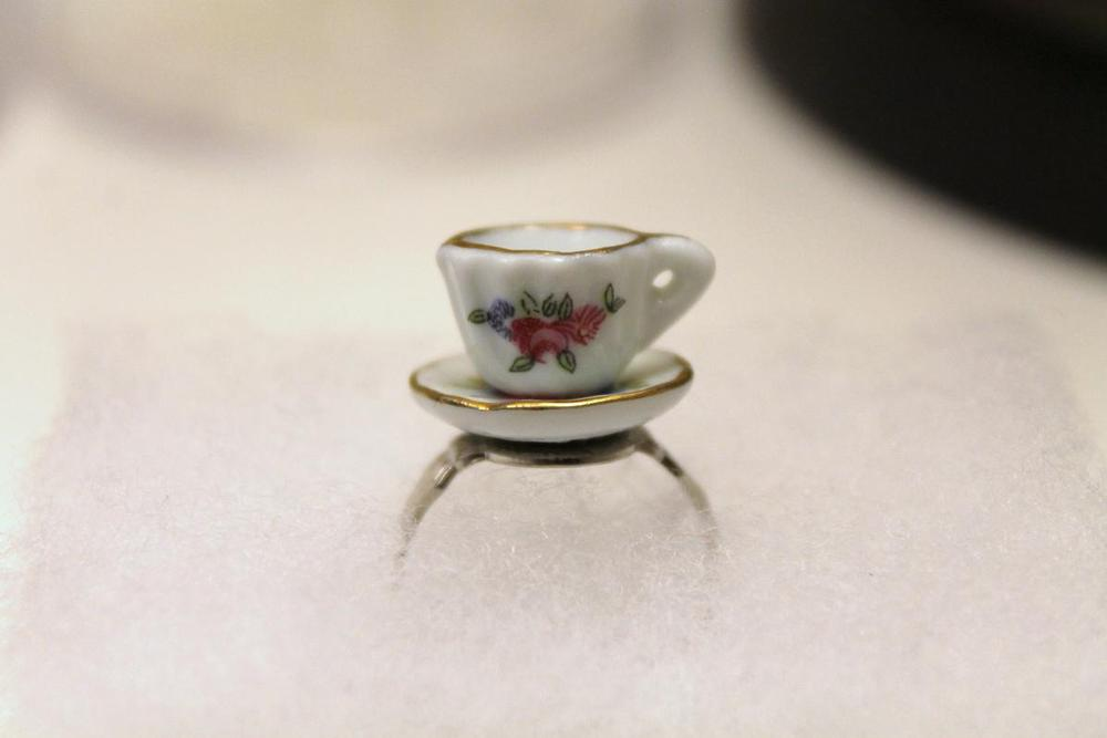 Image of Floral Tea Cup Ring