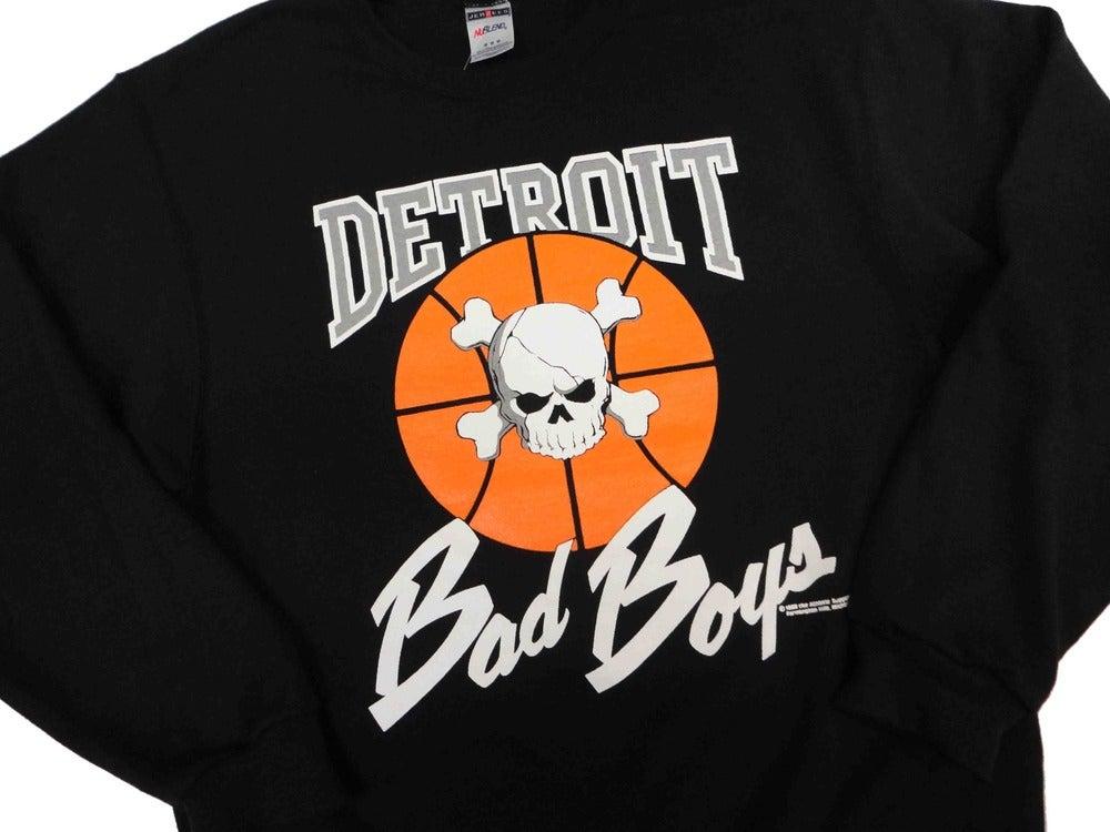 Image of Vintage Retro Detroit Pistons Bad Boys Crewneck Sweatshirt Jumper