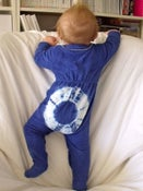 Image of ALL Über-Cute Tie Dye Baby GROW SUITS & ONESIES NOW LISTED ON ETSY www.etsy.com/shop/bohemianbabes