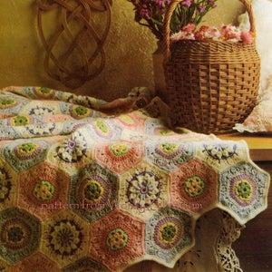 Image of Vintage Crochet Pattern PDF 224 Afghan Pattern from WonkyZebra