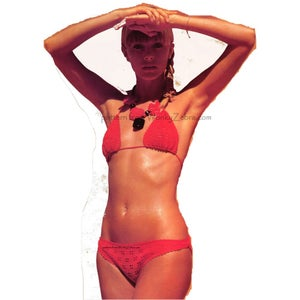 Image of Red Filet Crochet Bikini PDF Pattern 334 from WonkyZebra